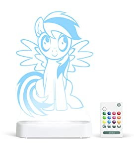 Aloka My Little Pony Rainbow Dash Multi-Color LED StarLight, with Remote Control, 8 inch, Color Changing