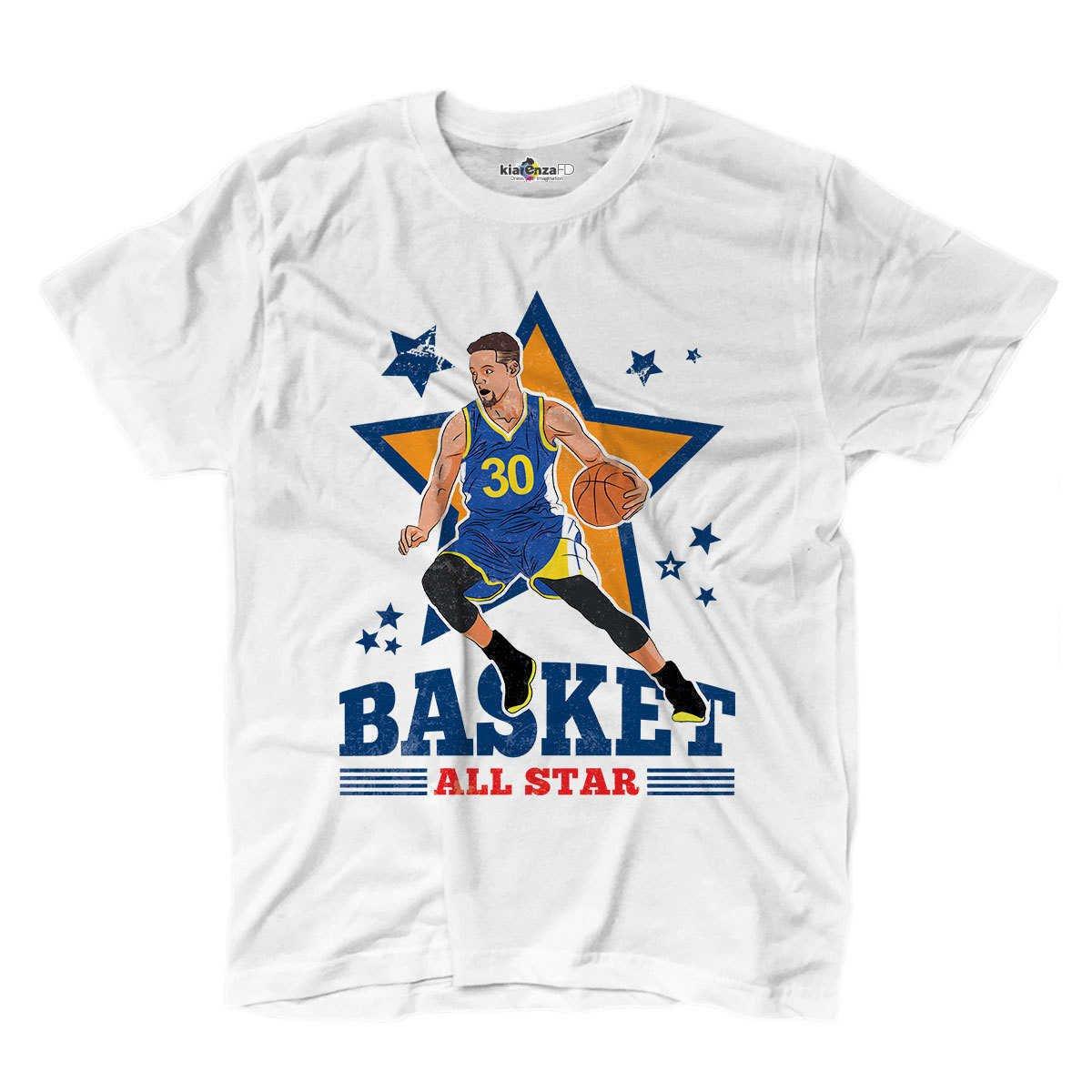 Camiseta camiseta Baloncesto Vintage parodia Stephen All Star ...