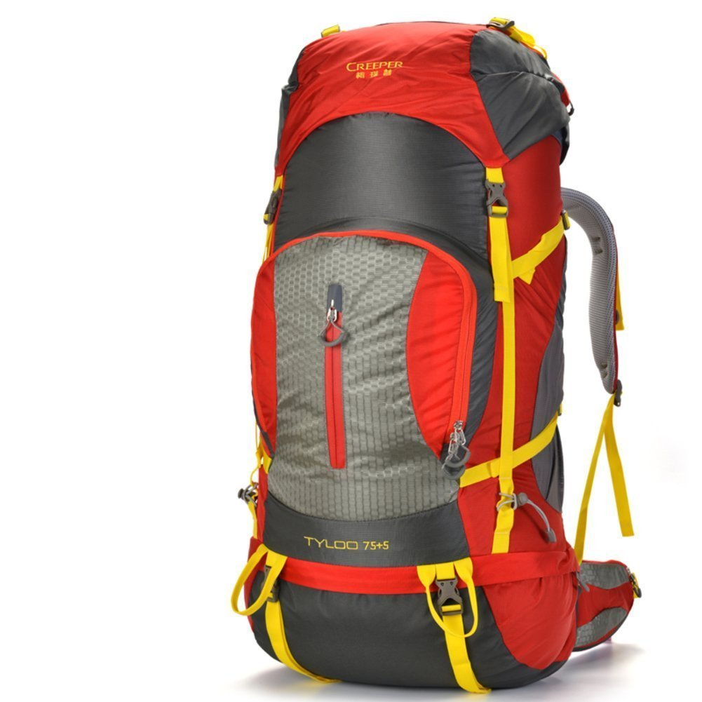 Sincere® Verpackung / Rucksäcke / Mobil / Ultralight Outdoor-Klettern Tasche / Reisetasche Schultern / 80L Tactical / Outdoor-Camping-Wanderrucksack-rot 80L