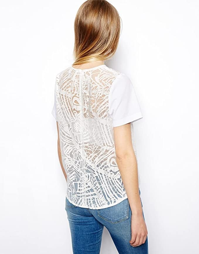 59e241c85b8c8e ASOS PETITE Exclusive Top in Abstract Burnout UK SIZE 12  Amazon.co.uk   Clothing