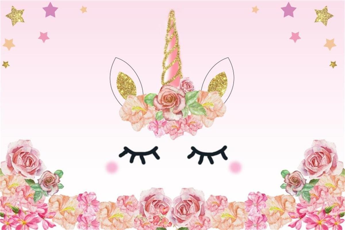 Amazon Com Aofoto 5x3ft Cartoon Unicorn Background Birthday Party