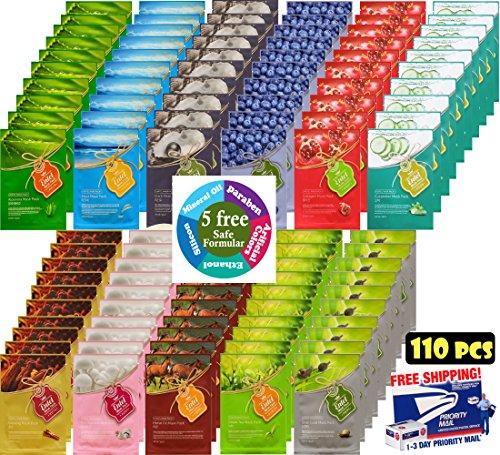 entel-110-pcs-combo-pack-premium-korean-essence-facial-mask-sheet-11-types-x-10-pcs-five-chemical-fr