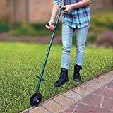 Buzzbuckkie Manual Lawn Edger Rotary Trimmer Handle Single Wheel Turf Trim & Edge Grass