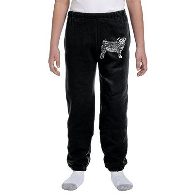 Luosi-77 Teenager Soft/Cozy Sweatpants Pug Dog Word Art-1 Fleece Pants