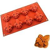 IC ICLOVER 8-Cavity Fleur-de-lis Mold, Mother's Day Gift Present, Non-Stick Fleur de lis Food Grade Silicone Mold for…