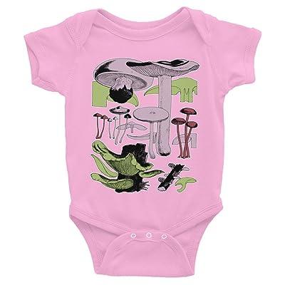 EncycloArt Botanical Mushrooms, Infant Bodysuit