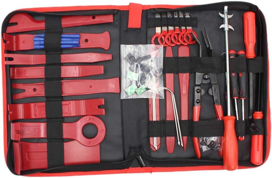 Wakauto 43 st/ücke Trim entfernungswerkzeug Auto Panel entfernungswerkzeug kit f/ür Auto Fahrzeug Auto Motor
