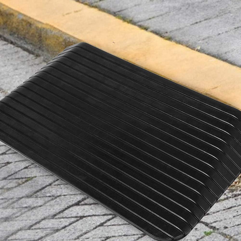 Greensen Rampe di cordolo Rampa di cordolo Rampa di soglia per Rampe di Gomma per Auto Portatili per Veicoli su Sedia a rotelle 110 x 42 x 6.4cm