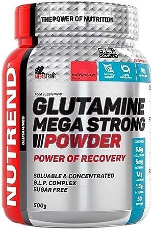Nutrend Glutamina Mega fuerte combinación Powder 500g sandía Sabor de aminoácido esencial L-leucina 95% de piperina