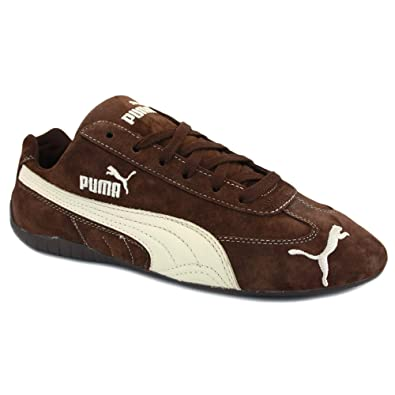 Puma Speed Cat Sd 301953 25 Mens Laced Suede Trainers Brown