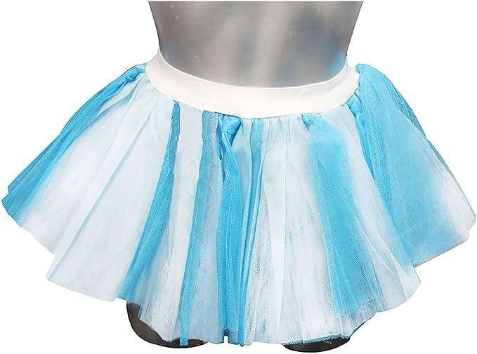 Islander Fashions para Mujer Azul y Blanco Finaza Tutu Mini Skirt ...