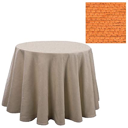Falda para Mesa Camilla Redonda Modelo Calpe, Color Naranja, Medida 90cm de diámetro