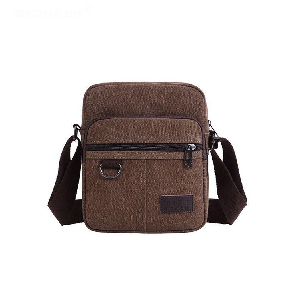 911dc7a3ff461 Amyannie Laptop Messenger Bag Men s Lady Portable Bag Casual Outdoor Canvas Briefcase  Shoulder Messenger Satchel Crossbody Handbag (Color   Khaki