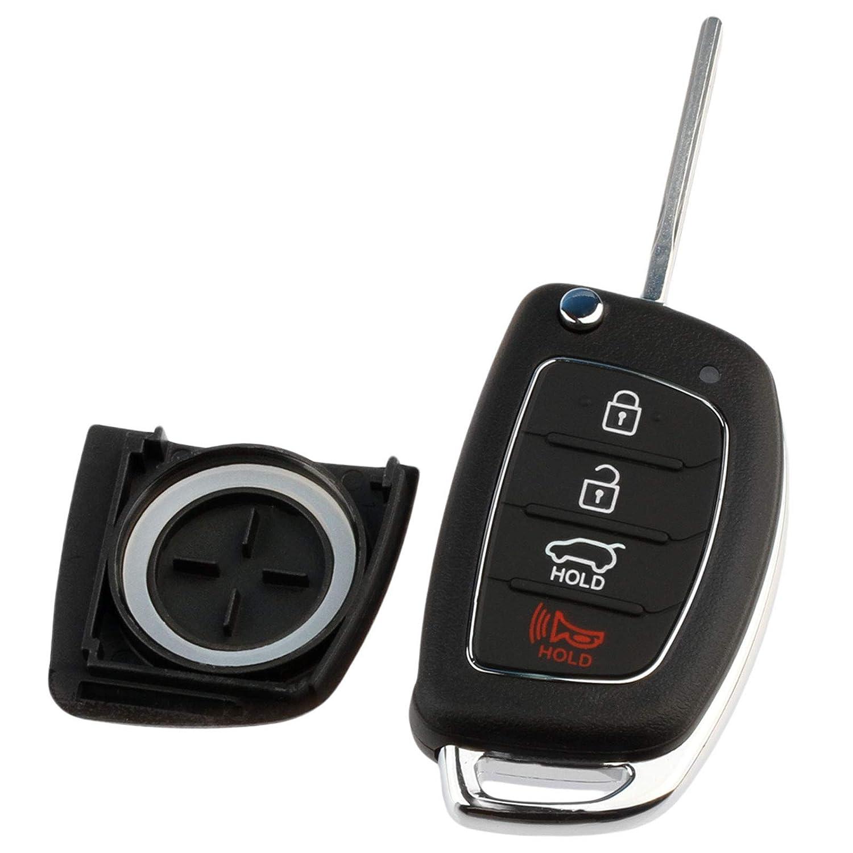 Case Shell fits 2013-2019 Hyundai Santa Fe Key Fob Keyless Entry Remote
