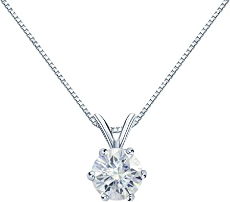 5mm 18 Inches Sterling Silver CZ Solitaire with Dolphin Halo Pendant and Necklace