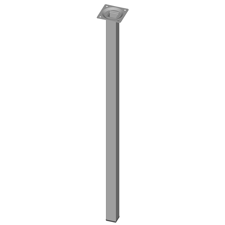 inkl Element System 4 St/ück Stahlrohrf/ü/ße eckig Anschraubplatte Tischbeine 4 Farben M/öbelf/ü/ße L 40 cm chrom 10 Abmessungen