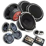 CT Sounds Meso 6.5 3-Way Component Car Audio Full Range Speaker Set
