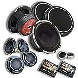 "CT Sounds Meso 6.5"" 3-Way Component Car Audio Full Range Speaker Set"