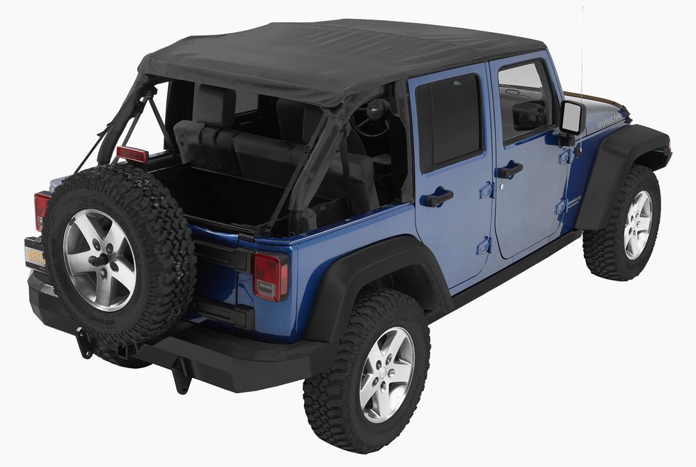 amazon com bestop 56823 35 black diamond trp nx complete frameless replacement soft top with with sunrider sunroof feature for 2007 2017 wrangler