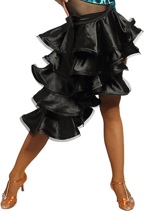 SCGGINTTANZ G2001 Latino Moderno Ballo da Danza Professionale la Gonna Stile Torta al Quinto Piano