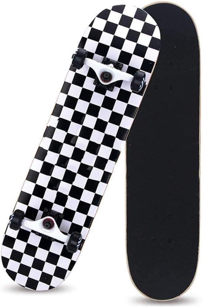 Adolescentes ni/ñas ni/ños ni/ños HUADUO Skateboard Complete Beginners Skateboard Pro 31x8 Maple Double Kick Penny Skate Board para Adultos