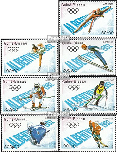 Guinea-Bissau 1088-1094 (Complete.Issue.) 1989 Olympics Winter Games 1992 (Stamps for Collectors) Winter Sports
