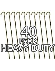 """Rose Evans Galvanised Steel Heavy Duty Tent Pegs - 9""""/23cm Long - 4.5mm Wide"""