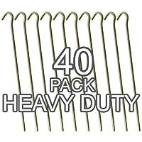 Piquets de tente solides en acier galvanisé 23cm de long–4,5mm de large
