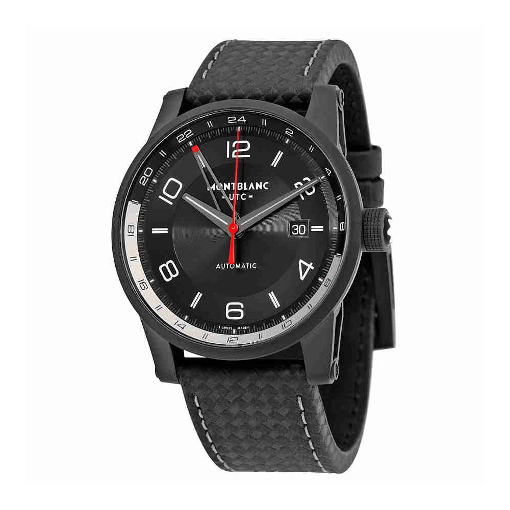 6217e6577 Amazon.com: Montblanc Timewalker Urban Automatic Black Dial Black Leather  Mens Watch 113876: Watches