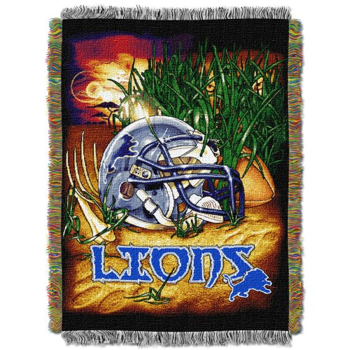 Officially Licensed NFL Detroit Lions Acrylic Tapestry Throw - Acrylic Officially Licensed