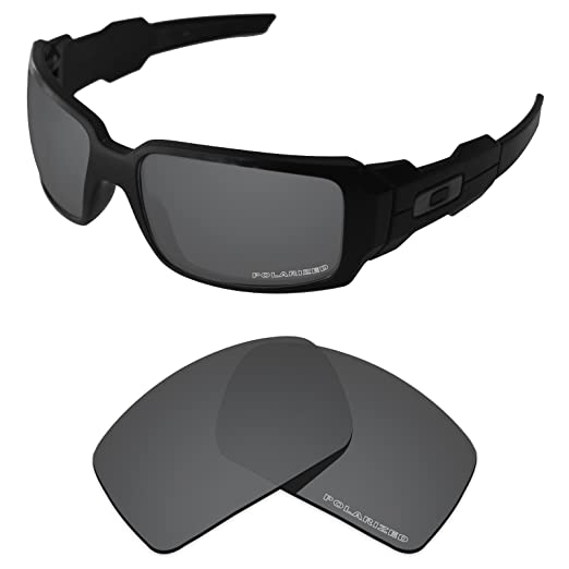 f7d41cf72ae Tintart Performance Lenses Compatible with Oakley Oil Drum Polarized  Etched-Carbon Black