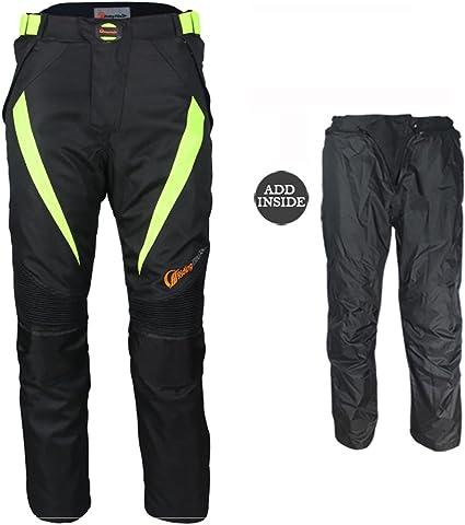 Pantalones LKN unisex con protecciones para motoristas de primavera y verano con forro extra/íble impermeable.