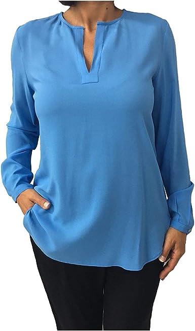 SOPHIE Camisa de Mujer Azul Modelo Mastra 95% Viscosa 5 ...