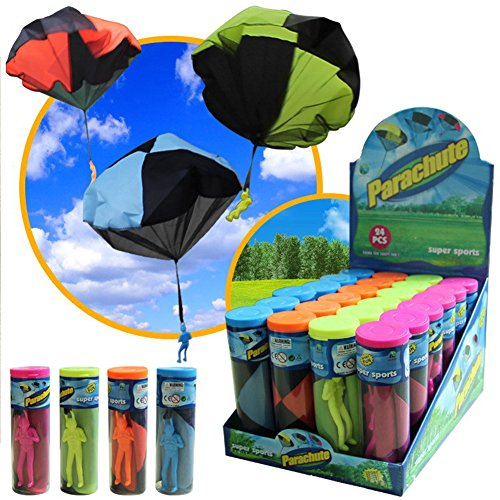Play Parachute Toy Soldier Men Base Jumpers Kids Throwing Hand Toss Fly High Tangle-Free Outdoor Launcher Toys 4 Pieces