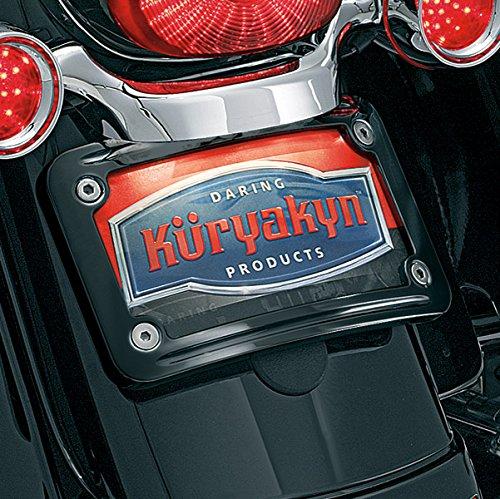 Kuryakyn 3147 Black Curved License Plate Mount - Kuryakyn Curved License Plate