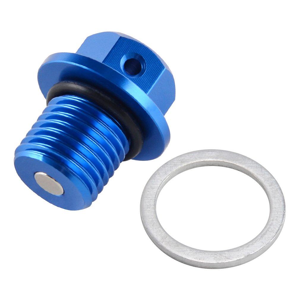 H2Racing Sostituire Yamaha/MT-09//TRACER 2014-2017,MT-07 2014-2017,V-MAX 1990-2007,2009-2017 CNC M14 Magnetico scarico olio motore Plug Bulloni