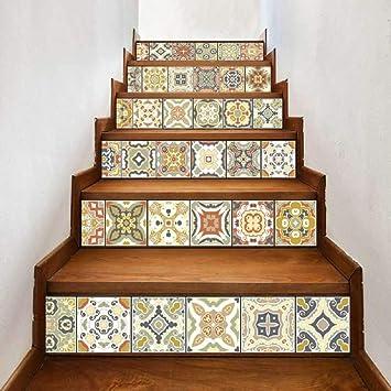 Pegatina amarilla DIY Paso Pegatina Azulejo Patrón Escalera Pegatina Decoración Boda Decoración del hogar @ 025_ 大: Amazon.es: Bricolaje y herramientas