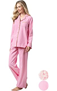 4aaf356bed Comfy Pajamas for Womens Warm and Cozy 2-Piece Flannel Pj Set of ...