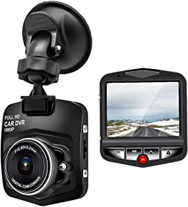 Dash Cam 1080P Full HD Dash Camera Car Recorder Dashboard, Motion Detection, Parking Monitoring, F2.0 Night Vision, G-Sensor, Loop Recording, 170° Wide Angle, Support 32GB max(Black)