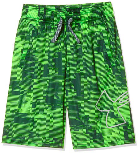 - Under Armour Boys' Renegade 2.0 Printed Shorts, Zap Green (722)/Mod Gray, Youth Medium
