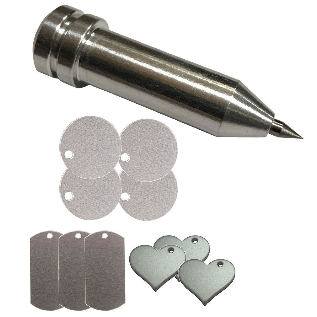 Chomas Creations Maker-Explore Precision Tip Tool and Stamping Blanks: Round, Dog Tags and Heart 4336822518