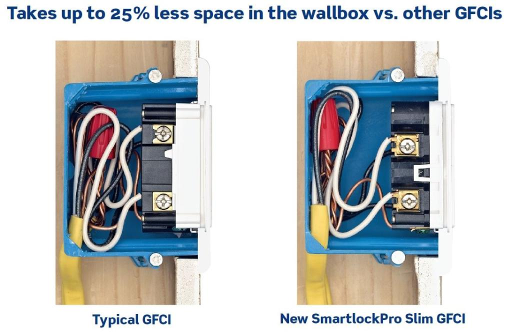 leviton n7599 w 15 amp 125 volt smartlock pro slim non tamper rh amazon com Switched GFCI Outlet Wiring Diagram Combination GFCI Outlet Wiring Diagram