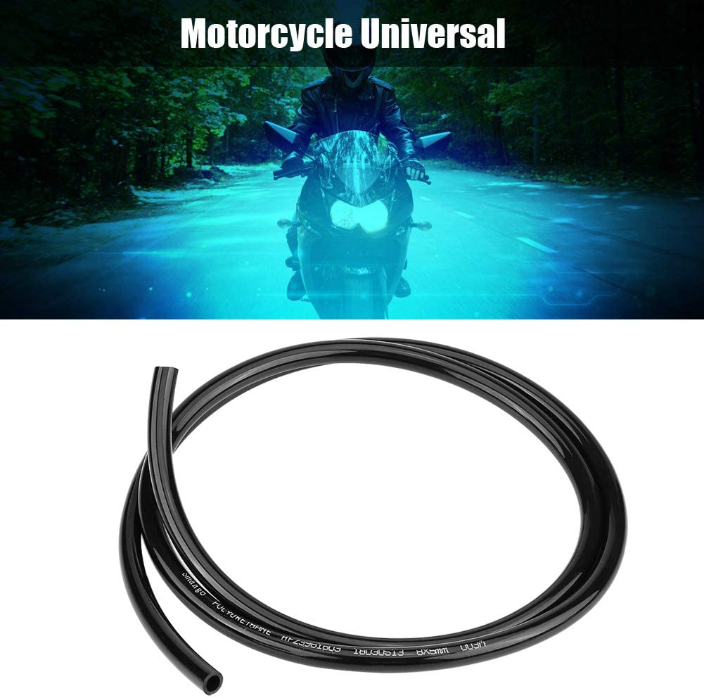 Black Motorcycle Fuel Pipe Fuel Line Oil Hose Motorcycle Universal Non Braided Rubber Fuel Line Hose Petrol Oil Pipe 1m Long