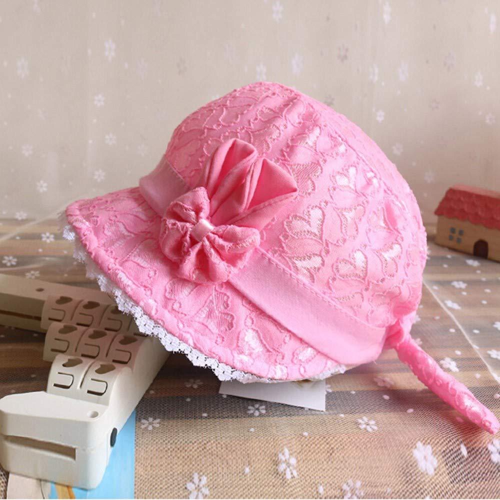 Nouveau-n/é Filles Seau Style de Plage d/ét/é Chapeau Protection Solaire Sinwasd Bonnet Fille Soleil Chapeaux
