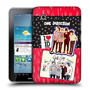 Official One Direction 1D Lined Locker Art Group Hard Back Case Cover for Samsung Galaxy Tab 2 7.0 P3100 P3110