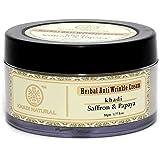 Khadi Natural Saffron and Papaya Herbal Anti Wrinkle Cream, 50g