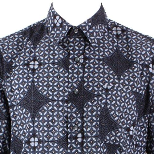 Loud Originals Regular Fit Hemd mit kurzen Ärmeln - Schiefer Geometrisch