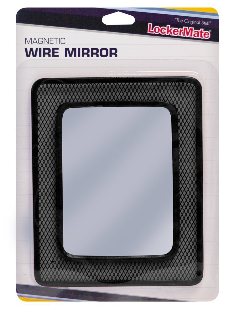 LockerMate (TM) Magnetic Wire Mirror, Black (01056)