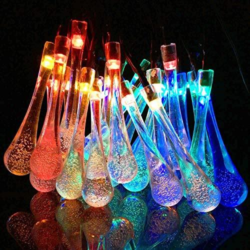 NOVALUC 20 LED Decorative String Lights Waterdrop Shape Fairy Lights Diwali Christmas Lights for Home Decoration…