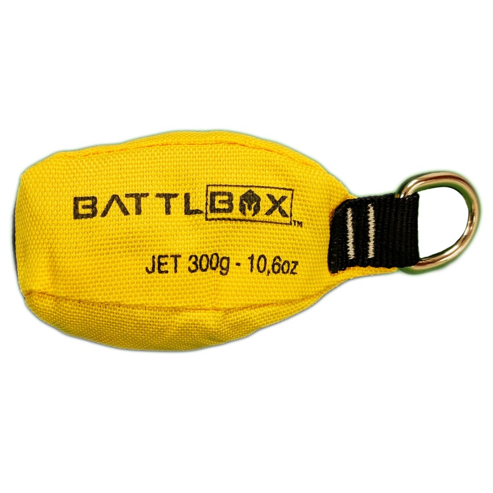 BATTLBOX Arborist Throw Weight-Throw Bag - 300g - Bright Yellow for High Visibility – Durable Two-Layer Construction – Aerodynamic and Streamlined for Increased Accuracy and Throw Distance